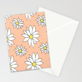Fresh As A Daisy (Coral) Stationery Cards