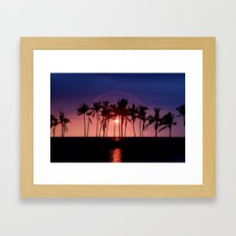 Waikoloa Beach Sunset... Framed Art Print