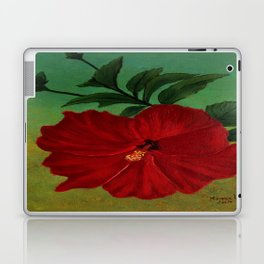 Red hibiscus Laptop & iPad Skin