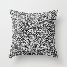 Elephant Print black / gray Throw Pillow