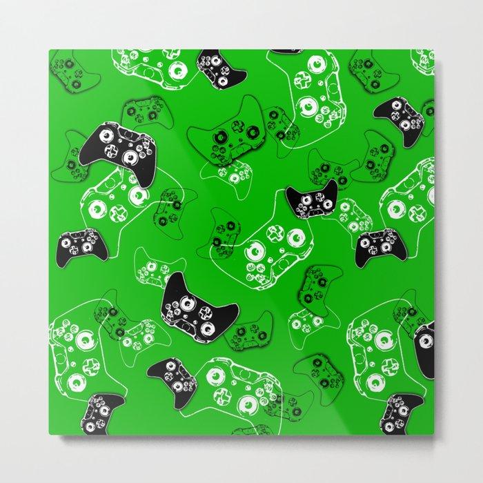 Video Game Green Metal Print