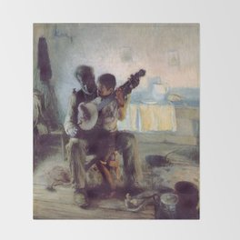 The Banjo Lesson by Henry Ossawa Tanner Throw Blanket