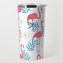 Flamingo Illustration, Pink iPhone Case, Bath Mat, Rug, Pillows and Beach Towels Travel Mug