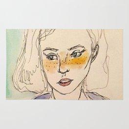 Freckled girl Rug
