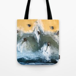 Garry Point - Original Resin Painting Tote Bag