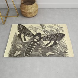 Death's-head Moth Rug