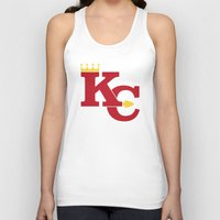 kansas city Tank Tops featuring Kansas City Sports Red by Haley Jo Phoenix