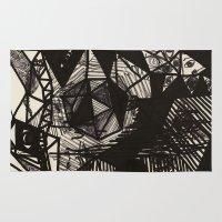 illuminati Area & Throw Rugs featuring Illuminati Bear by Spyck