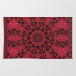 Red ornament Rug
