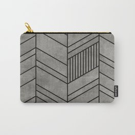 Concrete abstract chevron pattern Carry-All Pouch