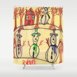 Snowman Contest Shower Curtain