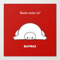 baymax Canvas Prints featuring baymax by Eric Si