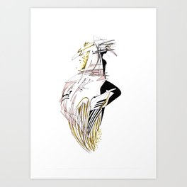 ELECTRIC GIRL Art Print