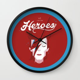 bowie forever blue Wall Clock