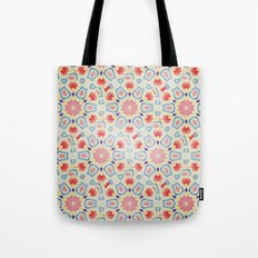 RED ARABESQUE Tote Bag