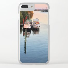 Boats on th Seine Clear iPhone Case