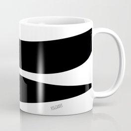 Irregular Stripes Black White Waves Art Design Coffee Mug