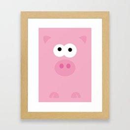 Minimal Pig Framed Art Print