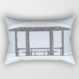 Snow Shelter Rectangular Pillow