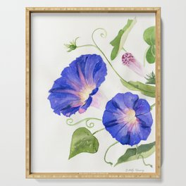 Morning Glory Bloom Serving Tray