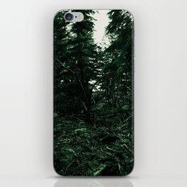 In the forest, the trees iPhone Skin