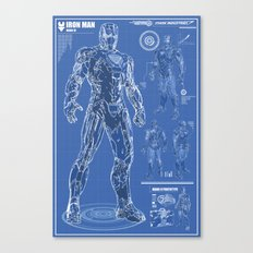 Iron Man Mark 6 Blueprints Canvas Print