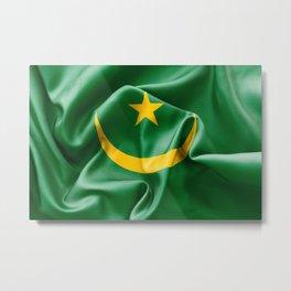Mauritania Flag Metal Print