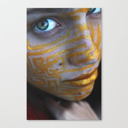 Golden Canvas Print