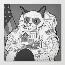 The Grumpiest Astronaut Canvas Print