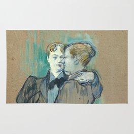 """Henri de Toulouse-Lautrec """"Deux femmes valsant"""" Rug"""