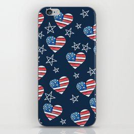 American Flag Heart iPhone Skin