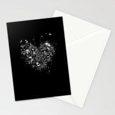 Heart2 Black Stationery Cards