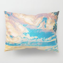 Palm Trees By The Sea Pillow Sham