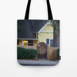 Yellow House with Moon Gate Tote Bag