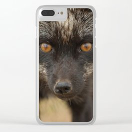 Amber Eyes Clear iPhone Case