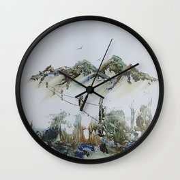 Sand Dunes and Rock Pools Wall Clock