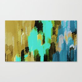 blue black and green painting texture abstract background Canvas Print