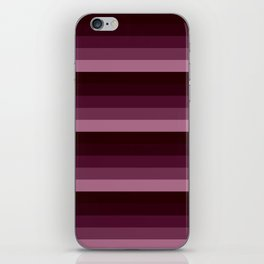 Burgundy stripes iPhone Skin