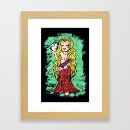 Goddess Aphrodite Framed Art Print