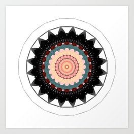 Mandala blossom / centro Art Print