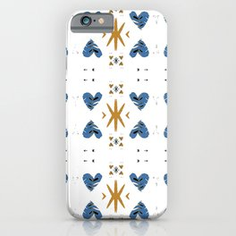 Scandinavian Hygge Tribal Hearts Print iPhone Case
