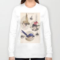 hats Long Sleeve T-shirts featuring Chapeaux/Hats by Kathead Tarot/David Rivera