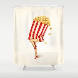 Popcorn Girl Shower Curtain