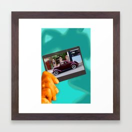 Me or the car, which is it? Framed Art Print