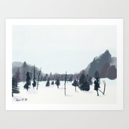 Breathe In The Winter View Art Print
