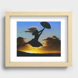 Sunset Sail Recessed Framed Print