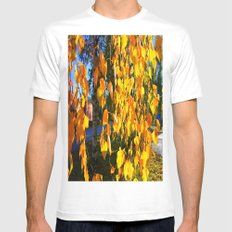 Yellow Curtains MEDIUM White Mens Fitted Tee