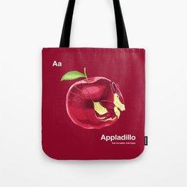 Aa - Appladillo // Half Armadillo, Half Apple Tote Bag