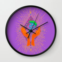 Pizza Hands Wall Clock
