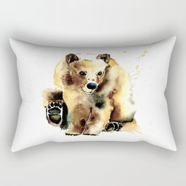 Brown Bear Rectangular Pillow